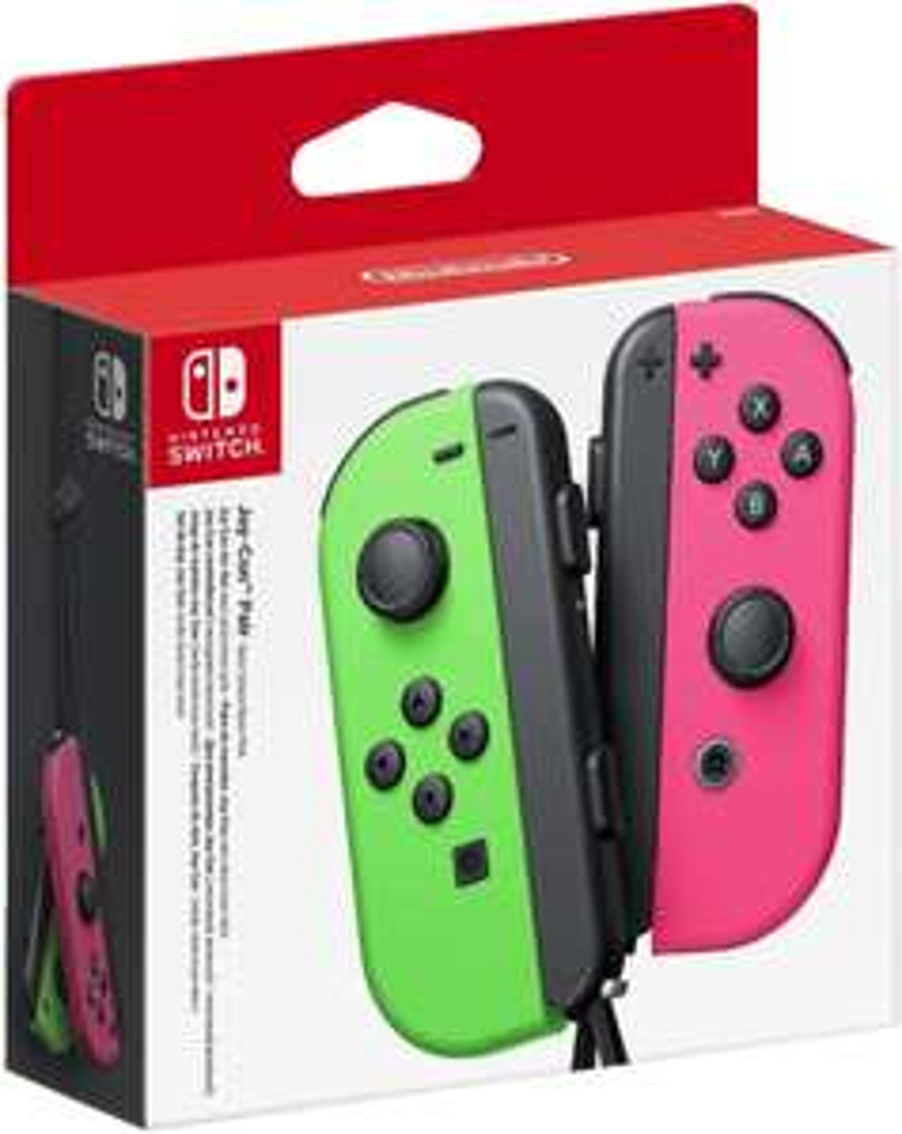Nintendo Switch Joy Con 2 Stück in grün/pink für 56,99€ inkl. Versandkosten