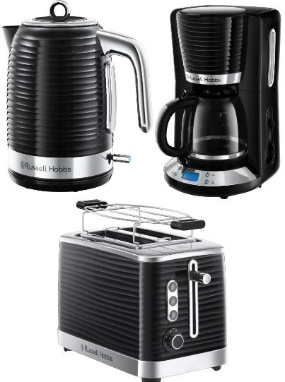 Russel Hobbs Inspire Frühstücks-Set: Kaffeemaschine, Wasserkocher und Toaster