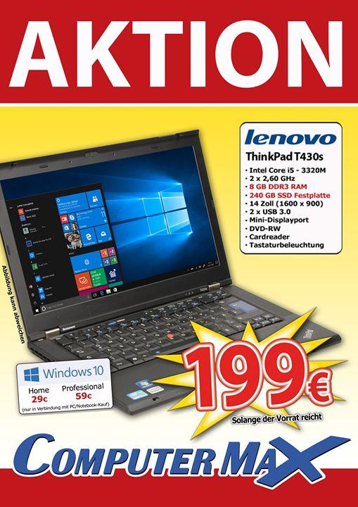(Lokal Weiterstadt) Lenovo Thinkpad T430s gebrauchtes Business Notebook