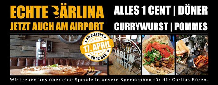 Bärlin Döner-Neueröffnung am Flughafen Paderborn-Lippstadt - Döner, Pommes, Currywurst für 0,01 €