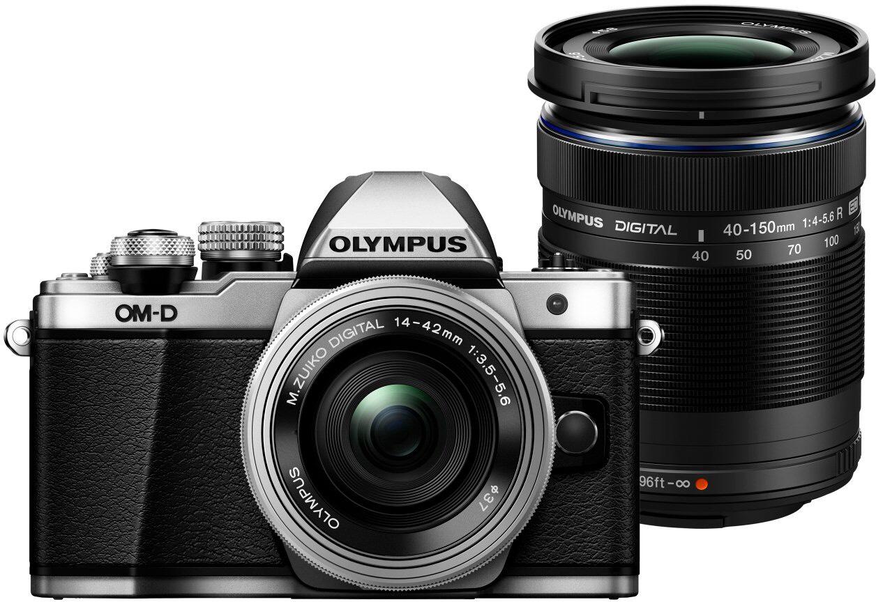 Olympus OM-D E-M10 Mark II MFT Systemkamera inkl. 14-42mm EZ + M.Zuiko Digital ED 40-150mm - AmazonPrime