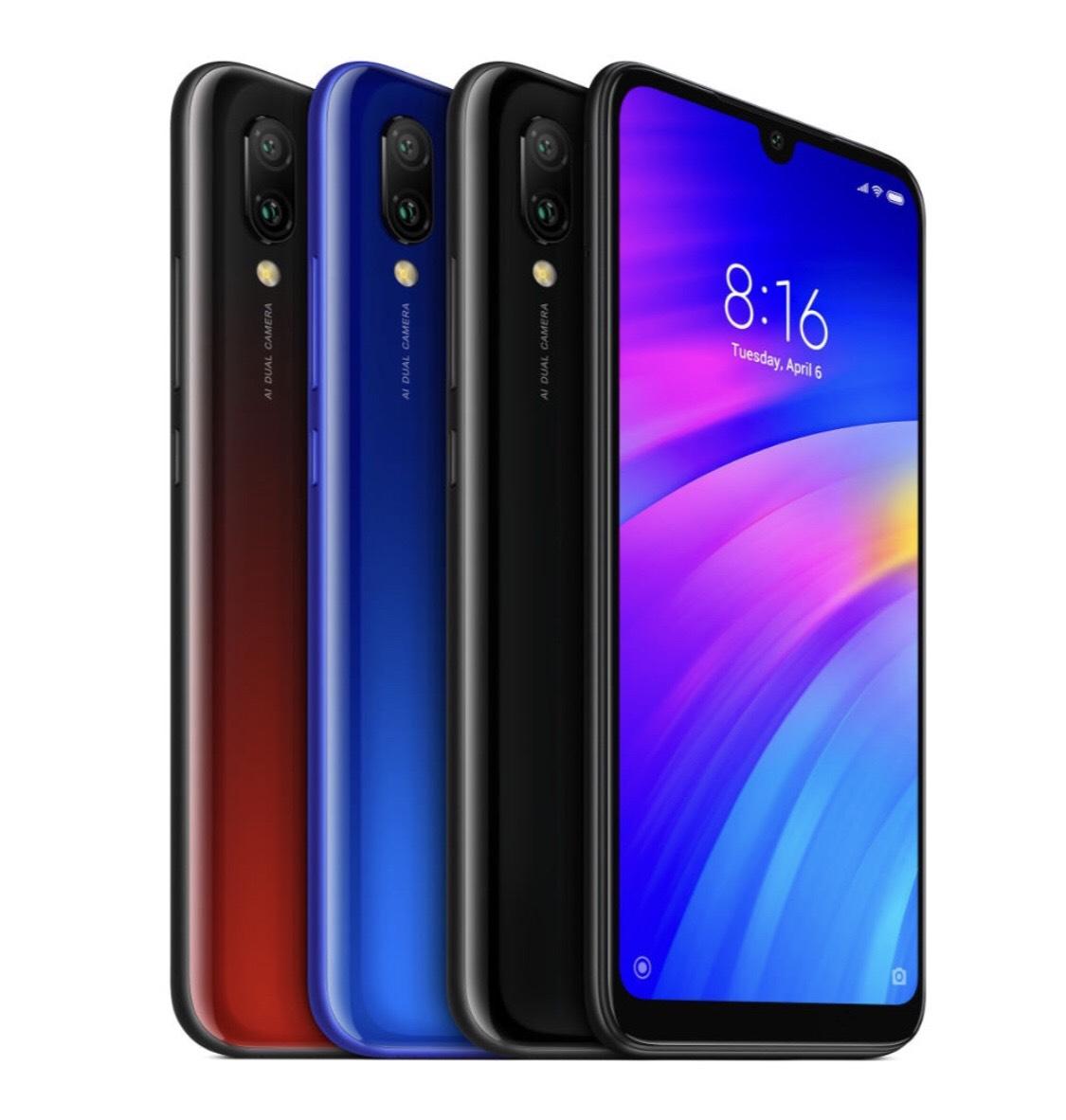 Xiaomi Redmi 7 Global Version 6.26 inch Dual Rear Camera 2GB RAM 16GB ROM Snapdragon 632 Octa core 4G Smartphone Black