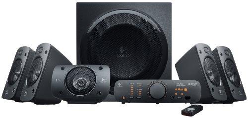 Logitech Z906 3D-Stereo-Lautsprecher (mit 5.1 Dolby Surround Sound, THX, 1000 W) für 179,99€ (Amazon)