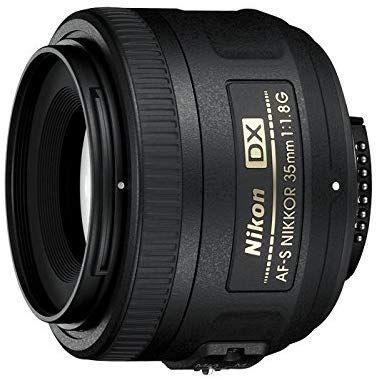 Nikon AF-S DX Nikkor 35mm 1:1,8G Objektiv (52mm Filtergewinde) [Amazon]