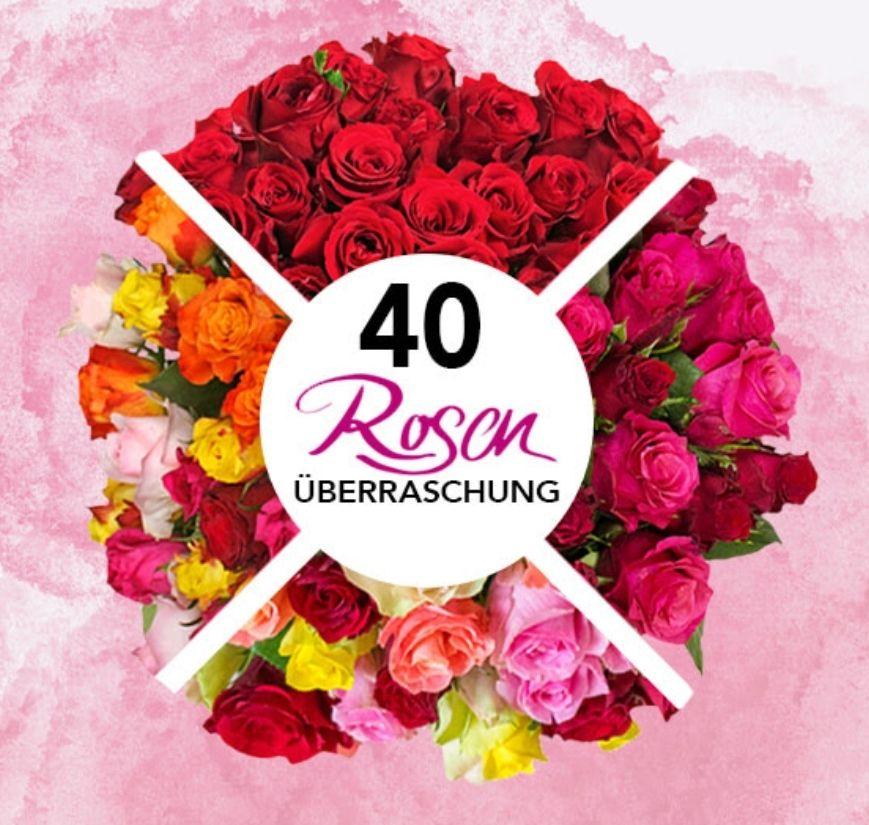 40 Rosen als Überraschung bestellen