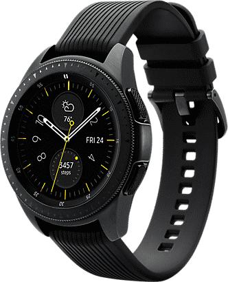 Samsung Galaxy Watch 42mm schwarz, Bluetooth + 35,25€ in Superpunkten [Rakuten]