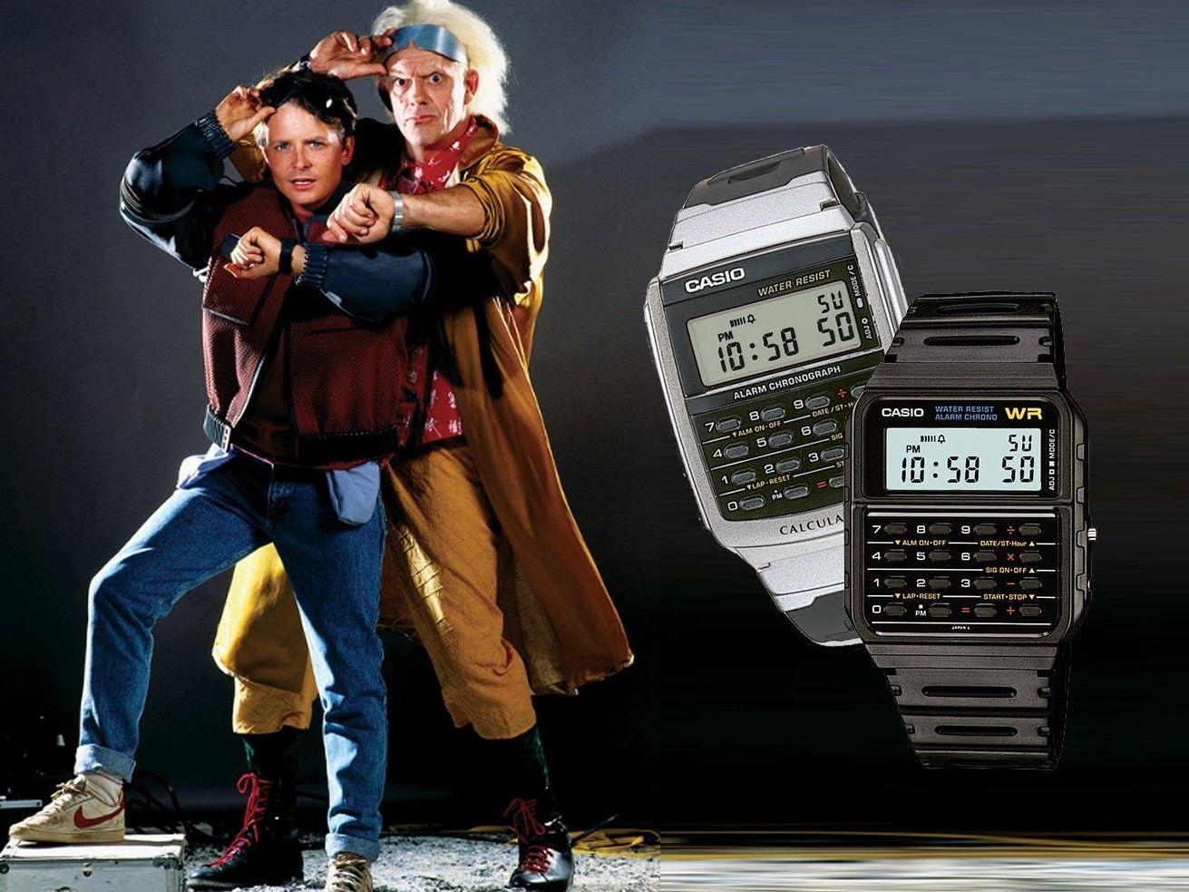 Marty Mcfly Zurück in die Zukunft Herren Uhr mit Taschenrechner CA-53W-1 CASIO