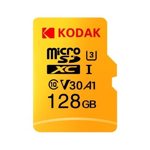 Kodak Micro SD-Karte 128 GB / 100 MB / s Lesegeschwindigkeit 4K-Videoaufnahme