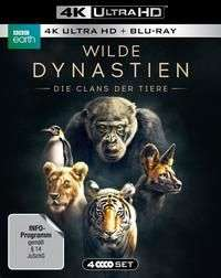 Neue BBC Doku in 4K HDR: Wilde Dynastien - Die Clans der Tiere [2x 4K UHD + 2x Blu-ray] bei thalia.de