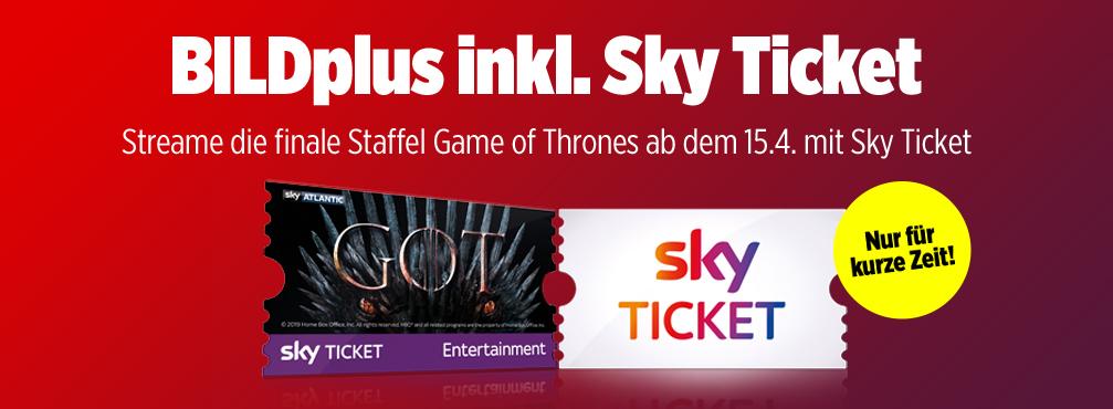 Streame die finale Staffel von Game of Thrones mit BILDplus und Sky Ticket für nur 3,99 €