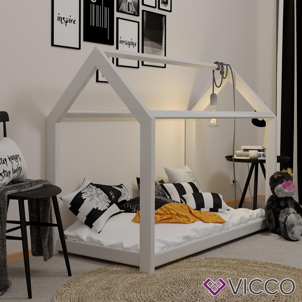 Vicco Kinderbett Haus 80x160cm Spielbett versandkostenfrei bei [real]