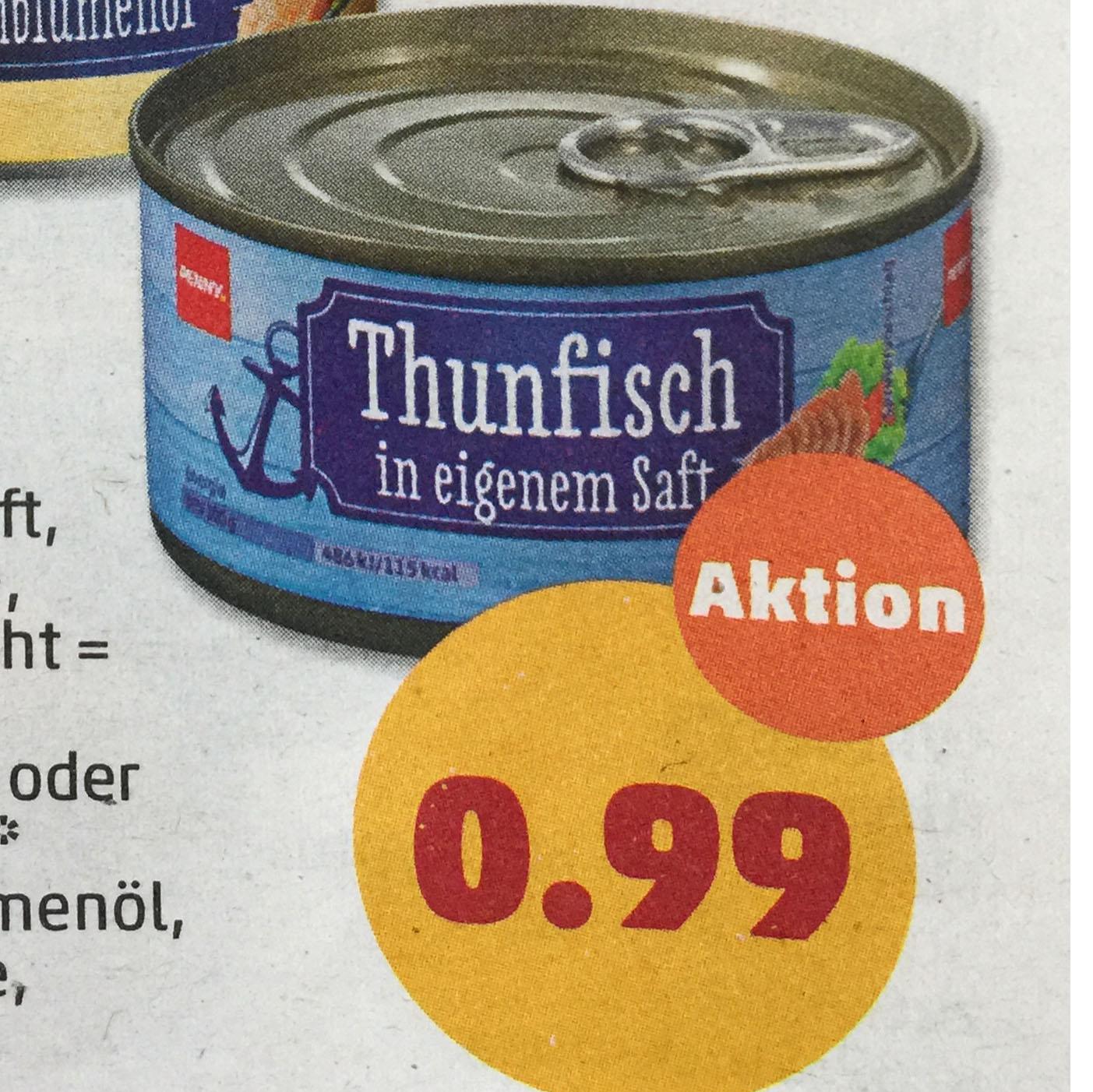 Thunfischfilet nur 99 Cent bei ( Penny )