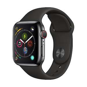 [Amazon IT] Apple Watch Series 4 40mm Space Gray Stainless Steel Edelstahl mit Sportarmband (GPS + LTE)