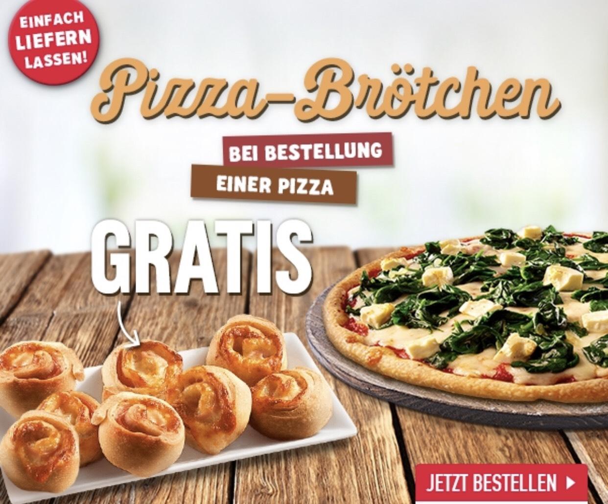 [Lokal - Berlin Hellersdorf // ggf. auch woanders möglich] Domino's - Pizza Brötchen gratis bei Bestellung einer Pizza
