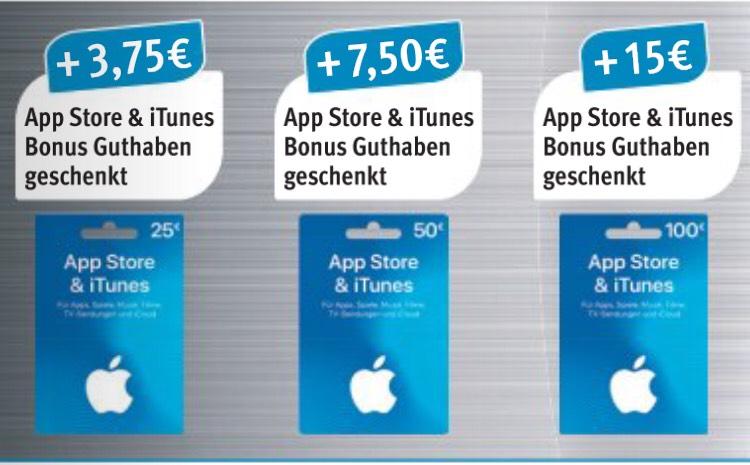 15% extra AppStore & iTunes Guthaben sichern