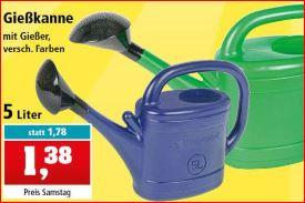 Gießkanne, verschiedene Farben, 5 Liter für 1,38 Euro und 10 Liter für 2,22 Euro [Thomas Philipps]