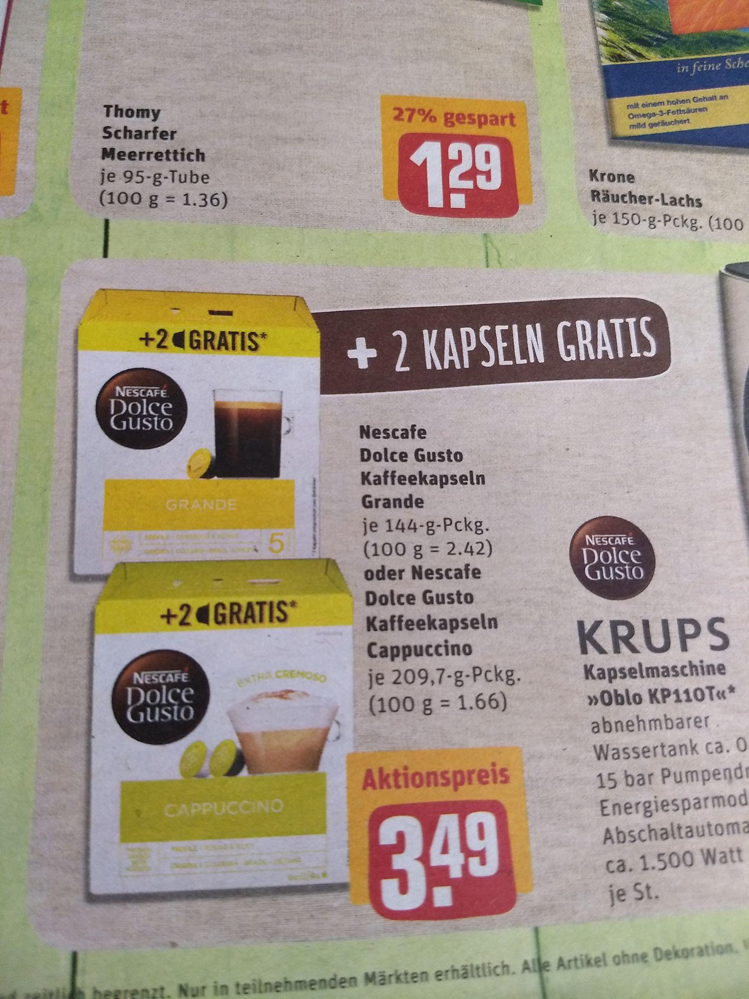 [REWE] Nescafe Dolce Gusto Kapseln