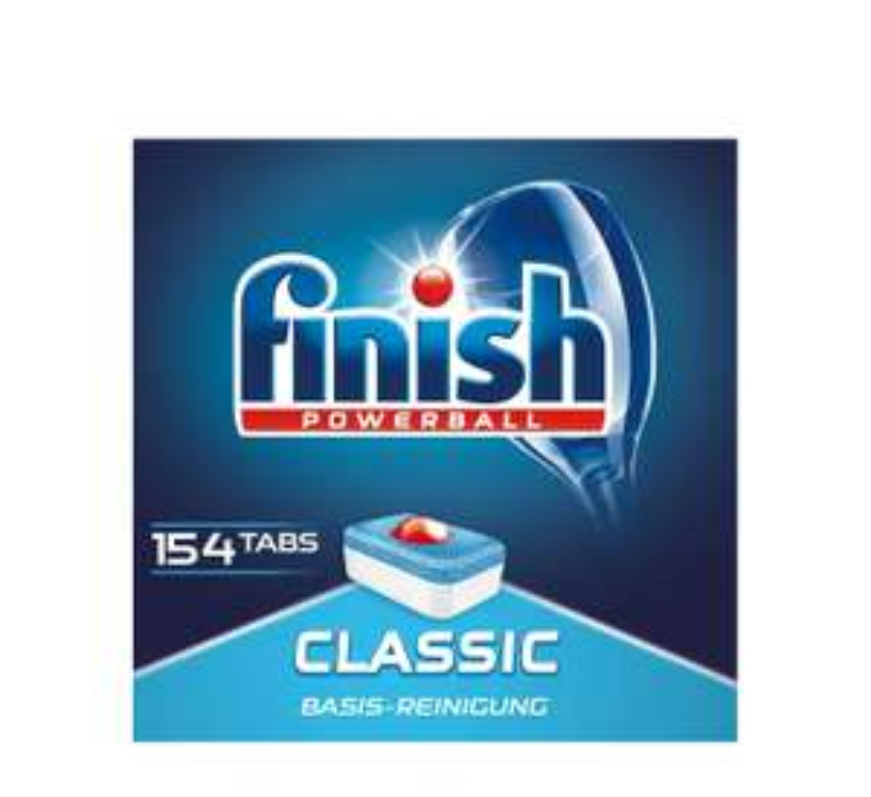 Finish Classic Spülmaschinentabs, Sparpack, 154 Tabs Amazon Prime 1 Tab 6 Cent