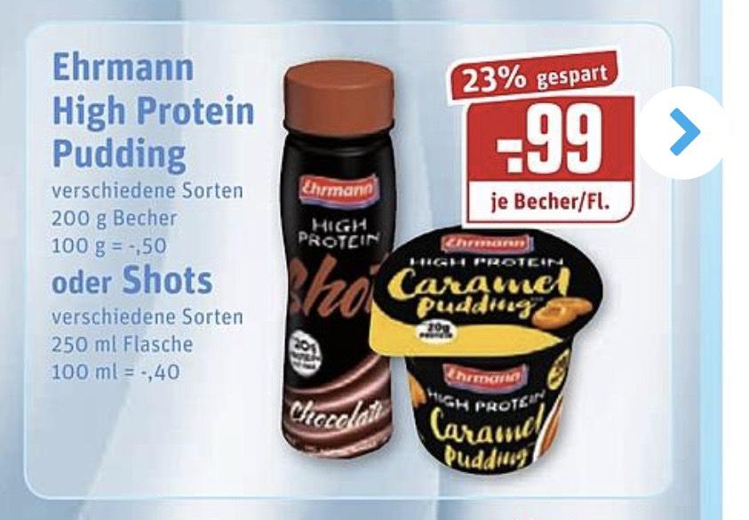 Ehrmann Pudding + Shot, Rewe-Center