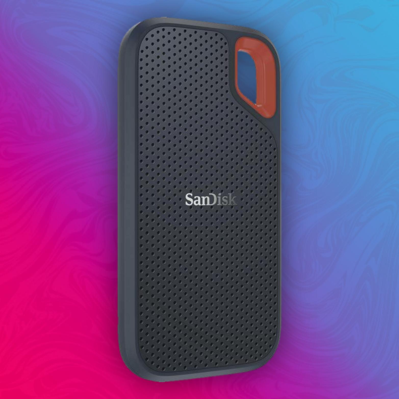 SanDisk Extreme Portable SSD 500GB (Externe SSD 2.5 Zoll, bis zu 550 MB/s Lesegeschwindigkeit, wasserdicht und staubdicht)