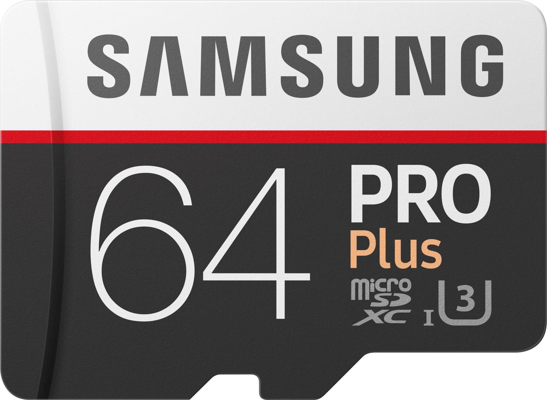 [Mediamarkt] Samsung Pro Plus Micro SDXC 64GB bis zu 100MB/s, Class 10 U3 Speicherkarte (inkl. SD Adapter) wieder für 25,-€