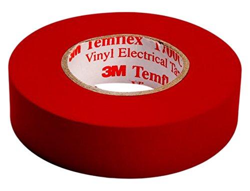 3M TROT1510 Temflex 1500 Vinyl Elektro-Isolierband, 15 mm x 10 m, 0,15 mm, Rot (Kein Plus Produkt) Amazon Prime Versand