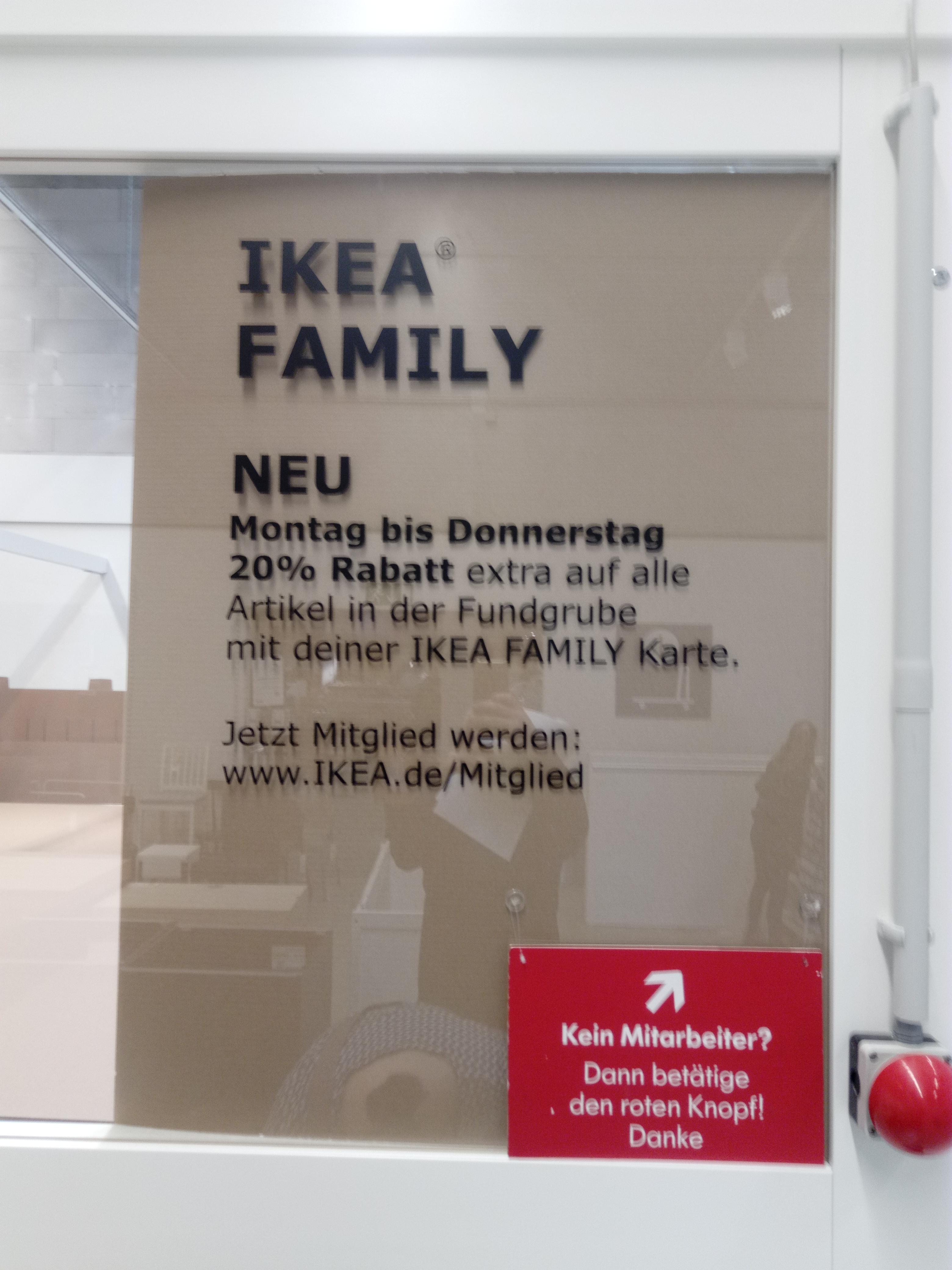 Ikea Fundgrube 20% mit Family Card (ggf Lokal Hanau)