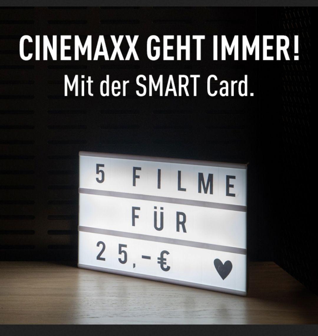 Cinemaxx Smartcard 5 x Kino für 25 € (Lokal?) Hamm