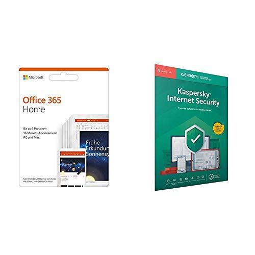 [Amazon] Microsoft Office 365 Home multilingual + Kaspersky Lab Internet Security 2019 Standard 5 Geräte