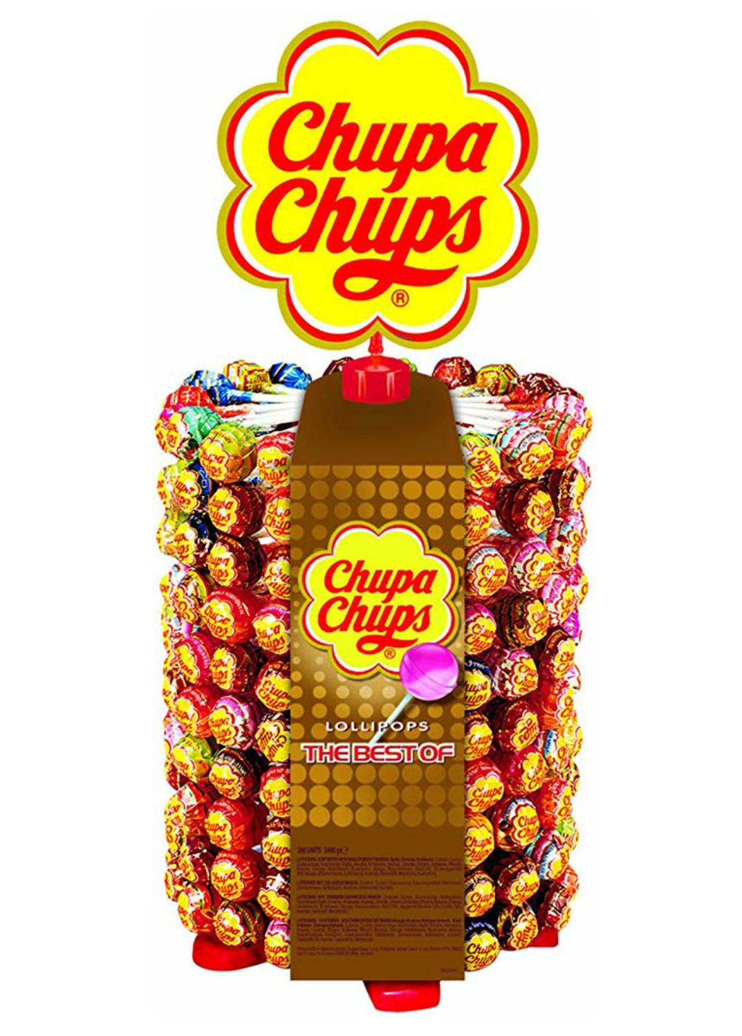 Chupa Chups 180er Lutscherrad plus 20 Lollies // 150 Lutscher in Pop-Art Metalldose für 13,99€ statt 18,99€ [Prime]