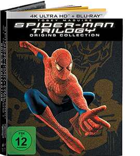 Spider-Man 1-3 4K Origins Collection 7 Discs Version (4K UHD + Blu-ray) für 42,97€ (Amazon)