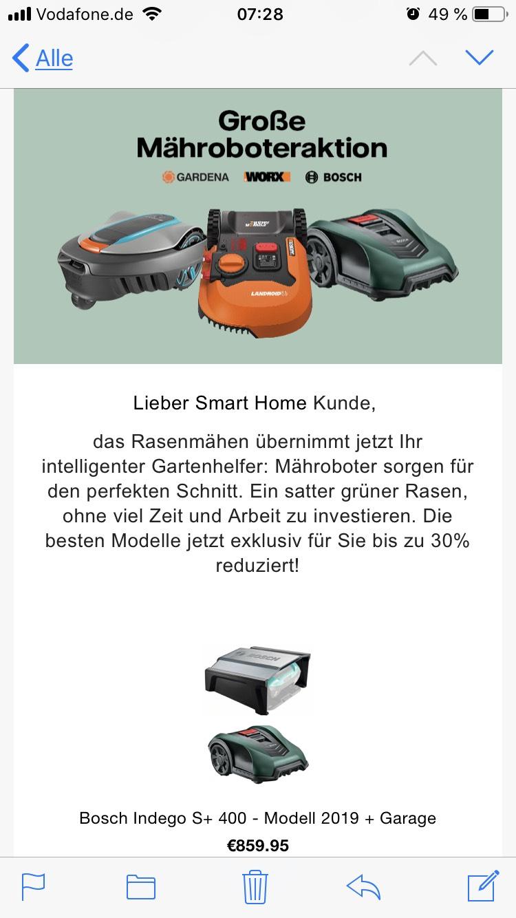 Mähroboter Aktion für Vattenfall Kunden bei tink z.B. GARDENA smart SILENO city 500 Mähroboter - Modell 2019 inkl. Gateway