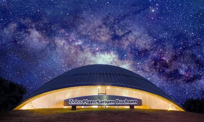 2 oder 4 Eintrittskarten für das Zeiss Planetarium Bochum für Shows und Musikshows