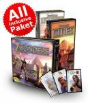 Gesellschaftsspiele zu Weihnachten günstig, Einzeln und Megapacks: z.B. Agricola+Erweiterungen, 7 Wonders+ Erweiterungen, Galaxy Trucker, Dungeon Fighter, uvm.