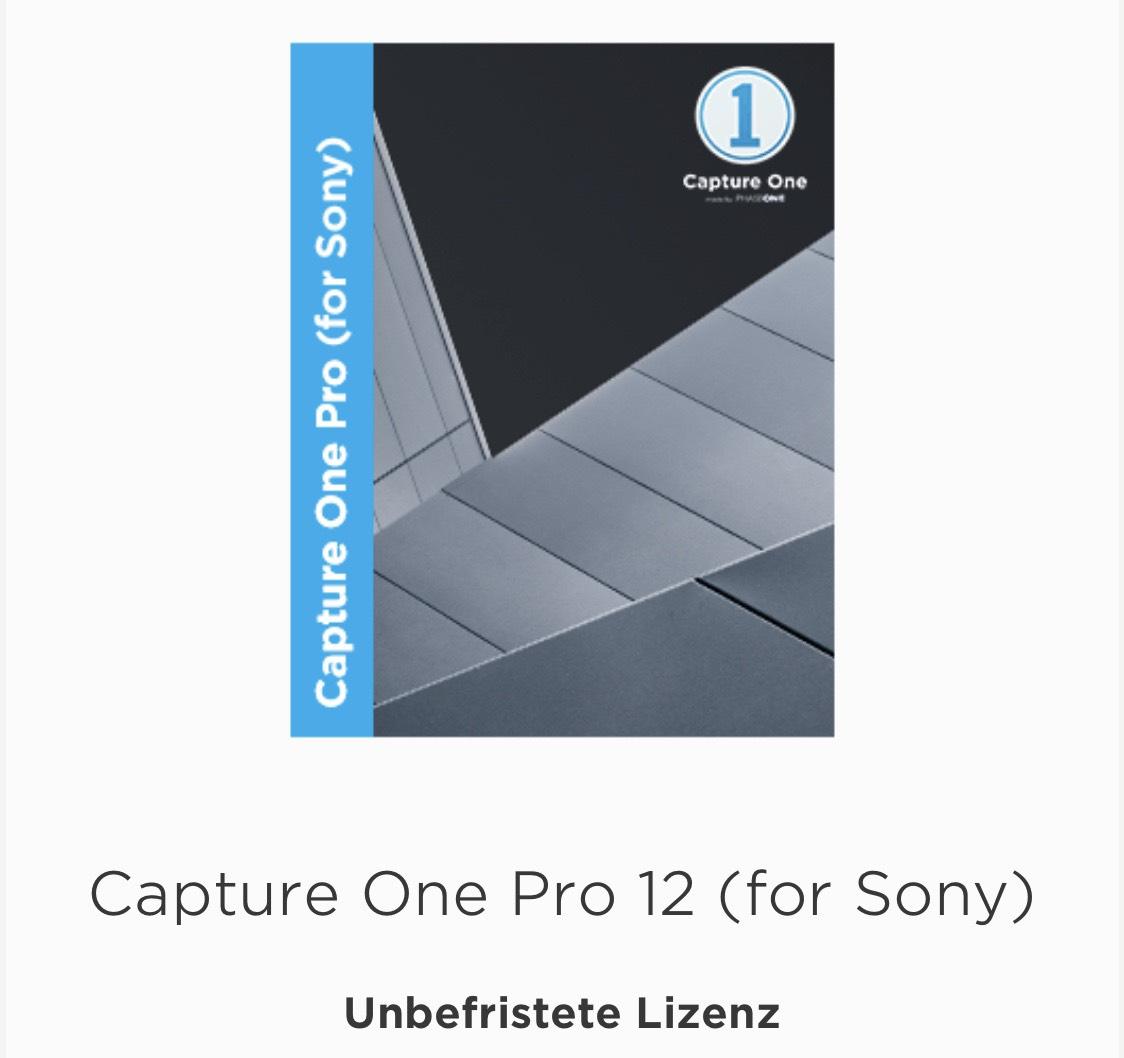 Capture One 12 Pro SONY