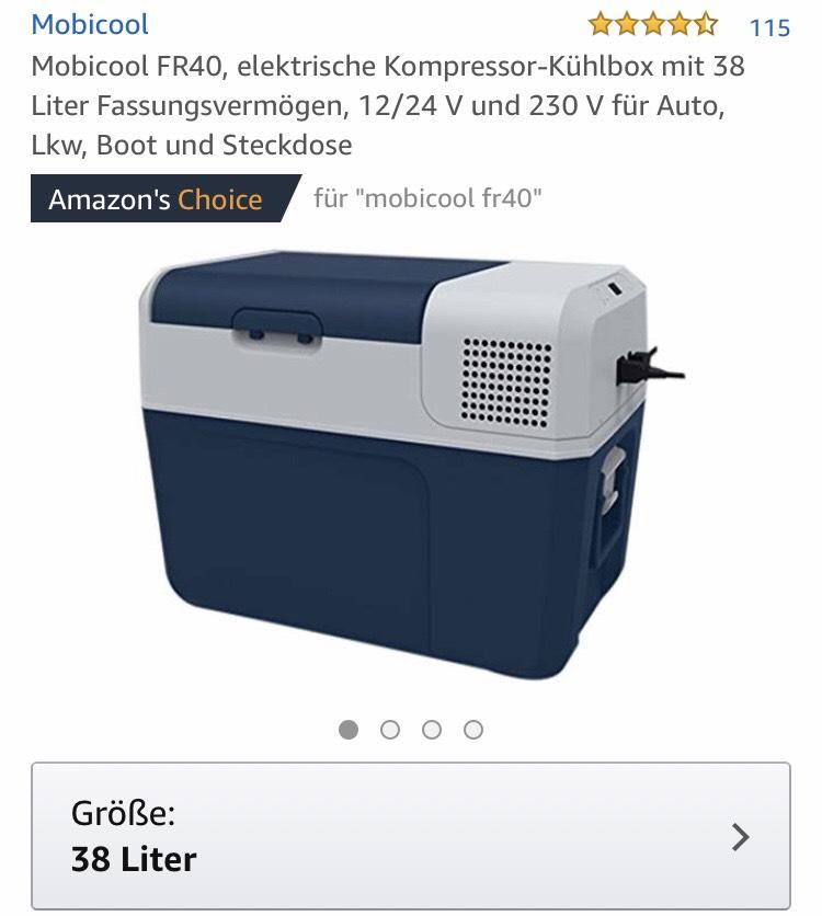 mobicool fr40 kompressor k hlbox blitzangebot amazon. Black Bedroom Furniture Sets. Home Design Ideas