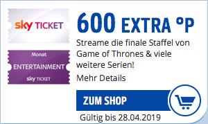 1 Monat Sky Ticket für 4,99€ + 600 Payback Punkte = 1,01€ Gewinn (Neukunden)