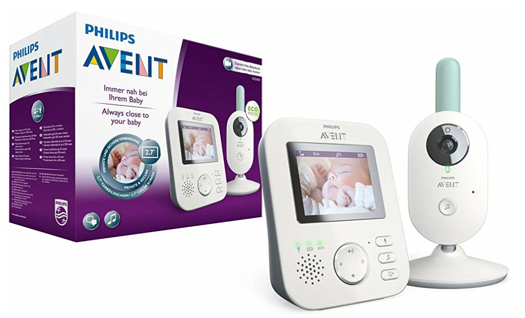 Philips Avent Video-Babyphone SCD620/26, 2,7 Zoll Display, ECO-Mode, 10 Std. Akku, weiß-türkis