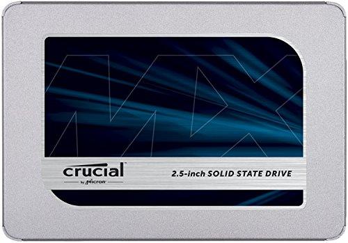 Crucial MX500 500GB, SATA SSD (3D-NAND TLC, 512MB Cache, 5 Jahre Herstellergarantie) CT500MX500SSD1