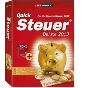 Lexware Quicksteuer Deluxe 2013 für 21,95€! TAXMAN 2013 für 23,95€! Steuererklärung für 2012