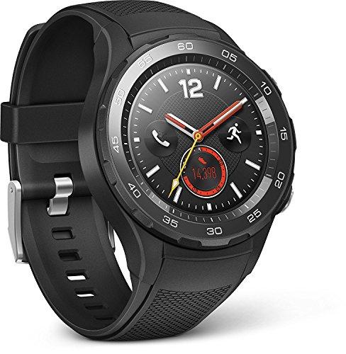 Amazon Spanien: Huawei 55021666 Smartwatch 2 (4G/LTE, 4GB ROM, Android Wear, Bluetooth, WiFi) Carbon schwarz Sport Strap