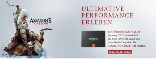 Samsung SSD 840 mit Gratis-Flug oder Gratis-Game (Assassin's Creed III)