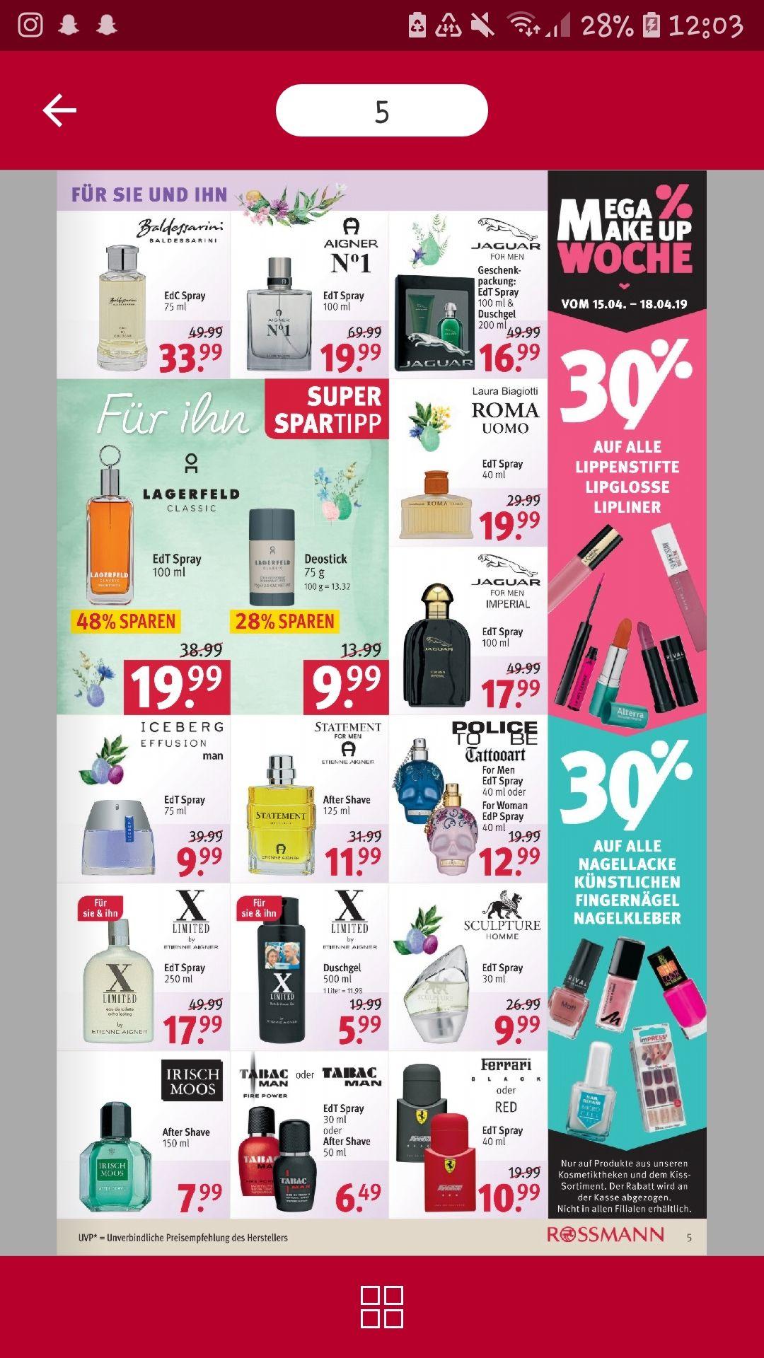 -30% bei Rossmann, mega Makeup Wochende