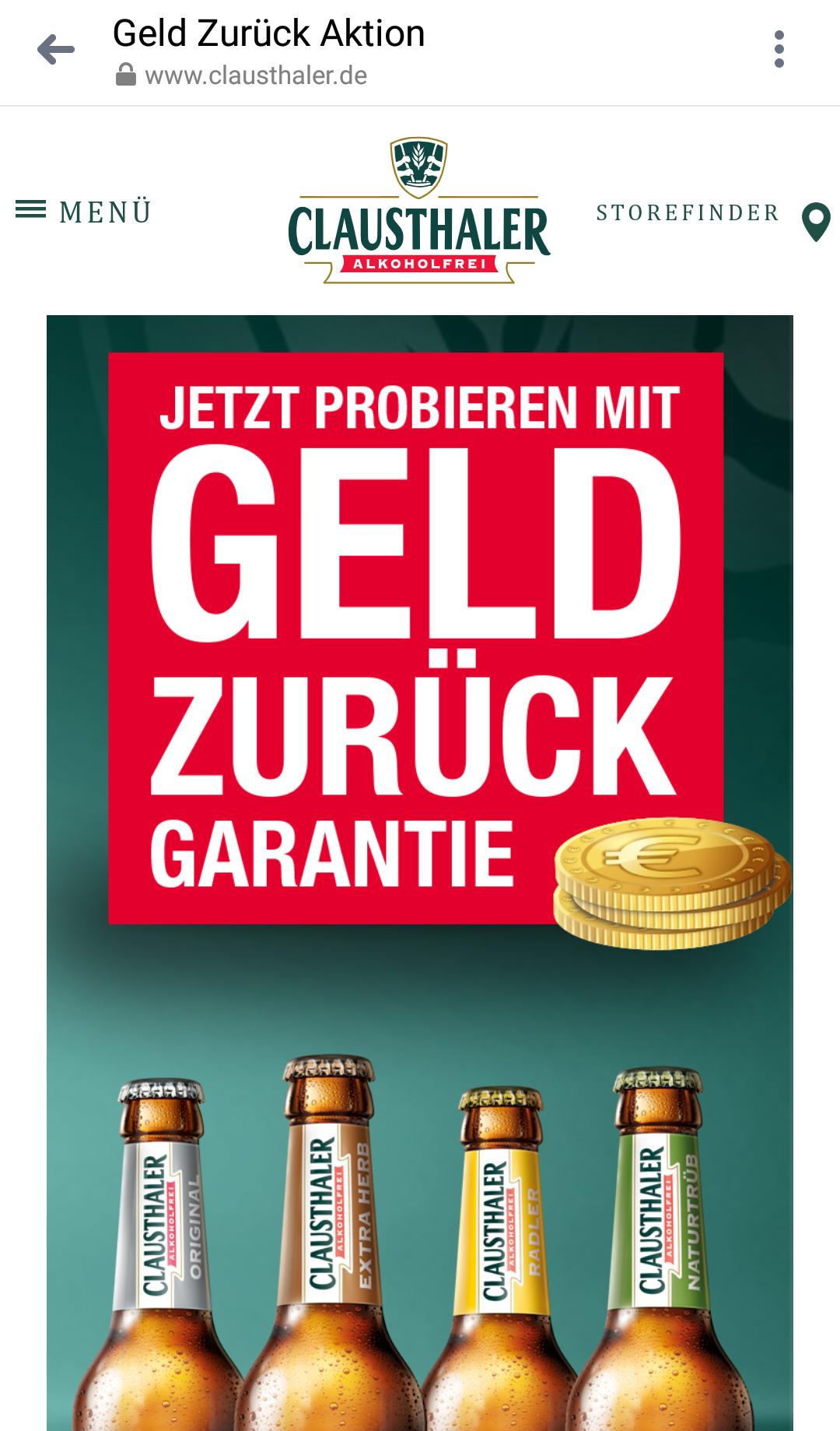 4 Sorten Clausthaler Alkoholfrei Gratis Testen / Je Sorte 6 Flaschen / 24 Flaschen gesamt