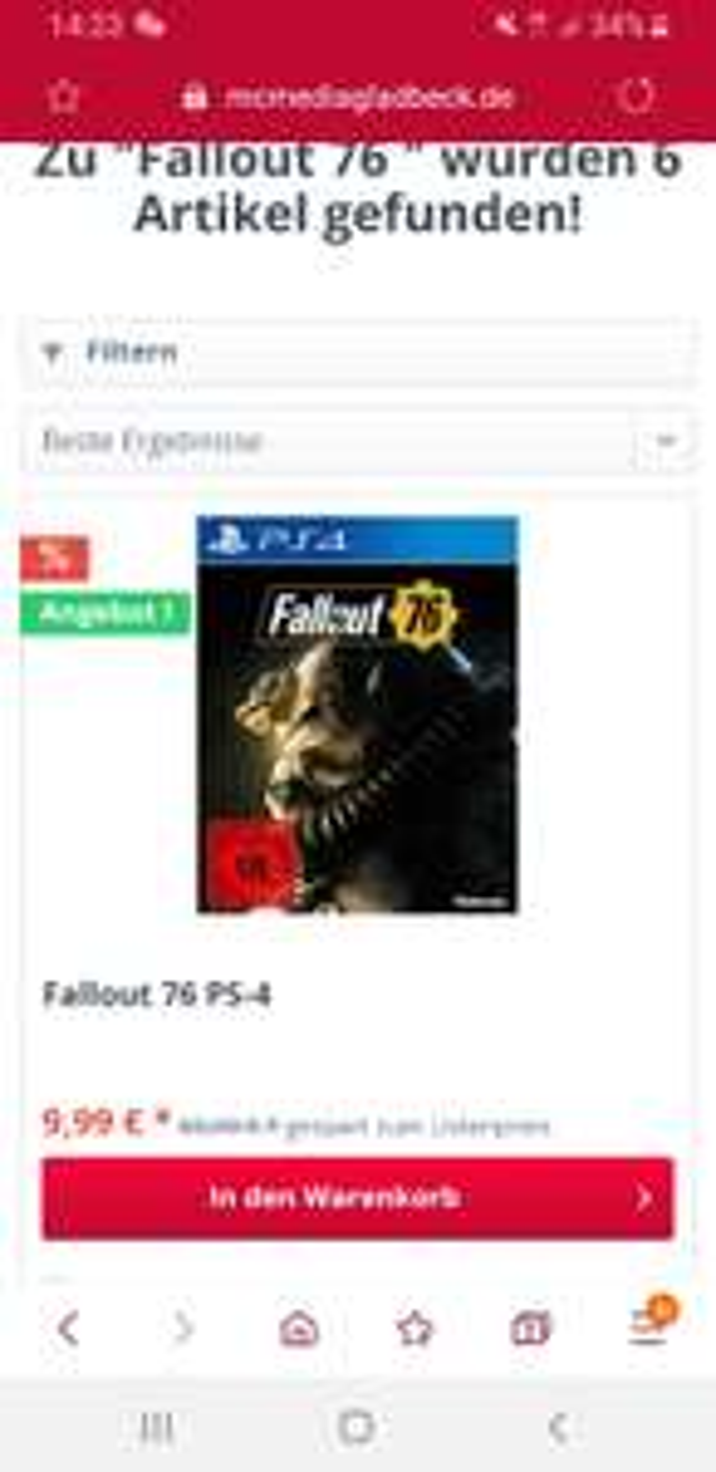 Fallout 76 PS4 Lokal Gladbeck