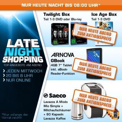 [DVD / BLU-RAY] ICE AGE 1 - 3 DVD / Twilight Saga 1 -3 BLU-RAY oder DVD für je 6,00 EUR @ Saturn Late Night Shopping