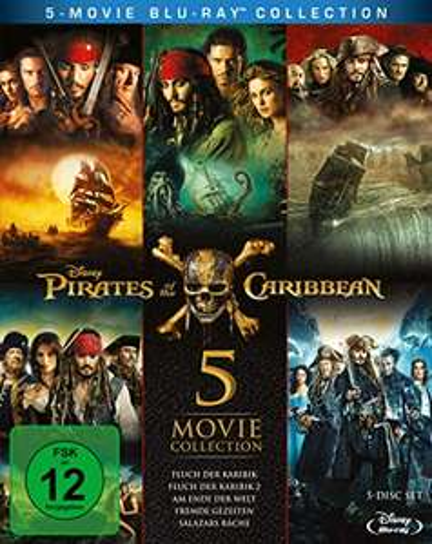 Pirates of the Caribbean 1-5 (5 Movie Collection Blu-ray) für 22,97€ (Amazon Prime Blitzangebot)
