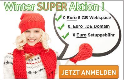5GB Webspace + .de Domain - 1 Jahr gratis !