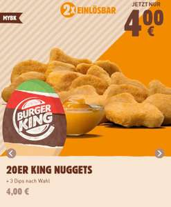 20er King Nuggets 4€ [MyBK Burger King App]