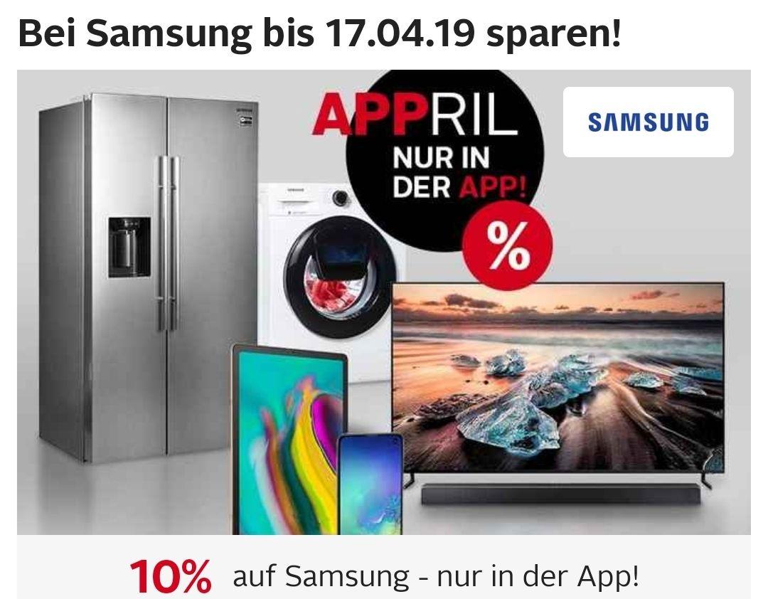 10% Rabatt auf alle Samsung Artikel über die Otto App